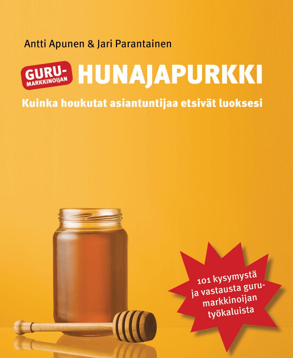 Gurumarkkinoijan Hunajapurkki -kirjan kansiluonnos 5