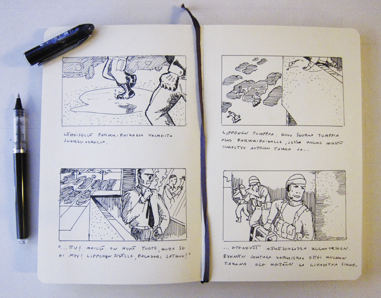 Rynnäkkö-storyboard