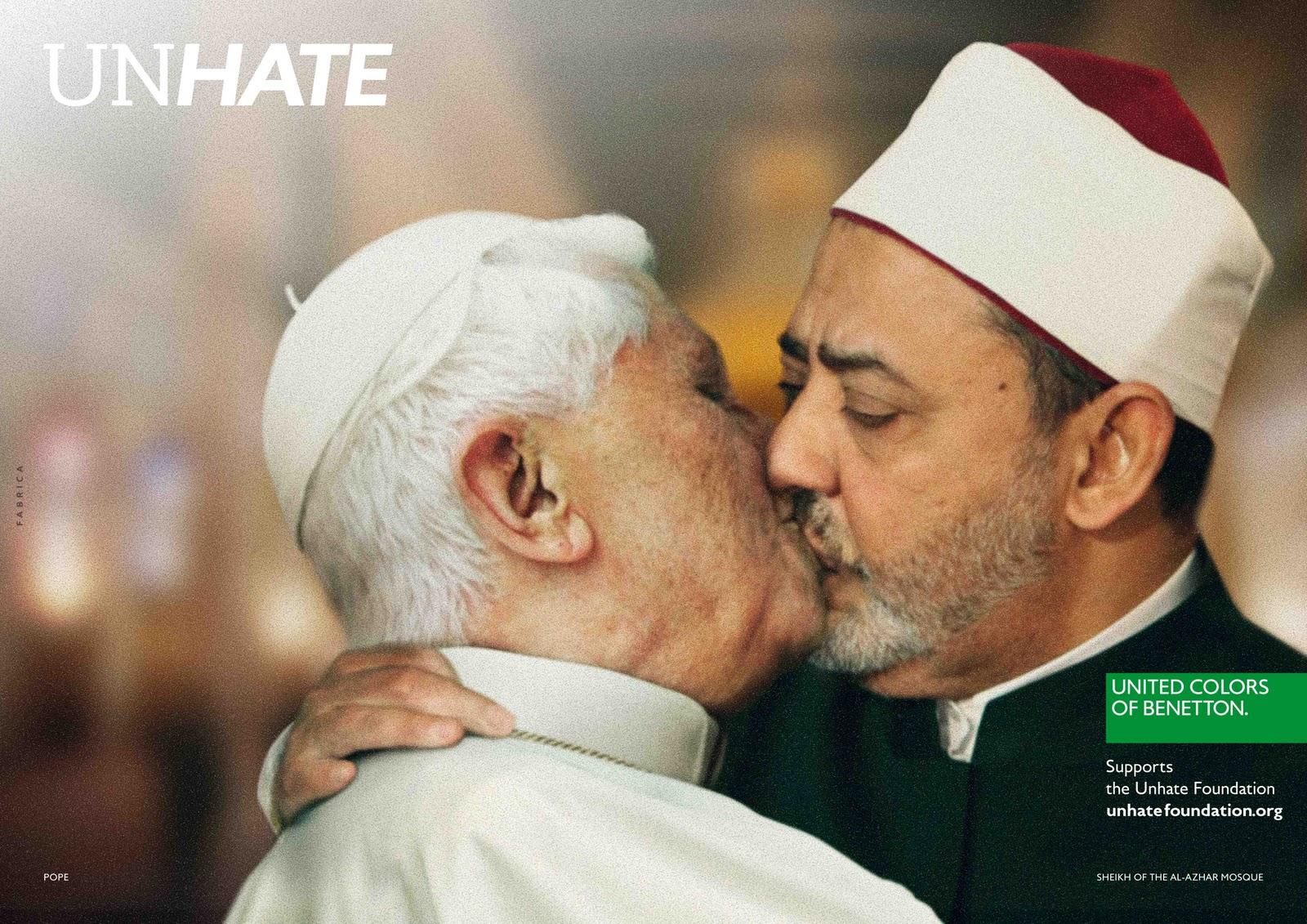 Benetton suututti paavin jälleen kerran syksyllä 2011.