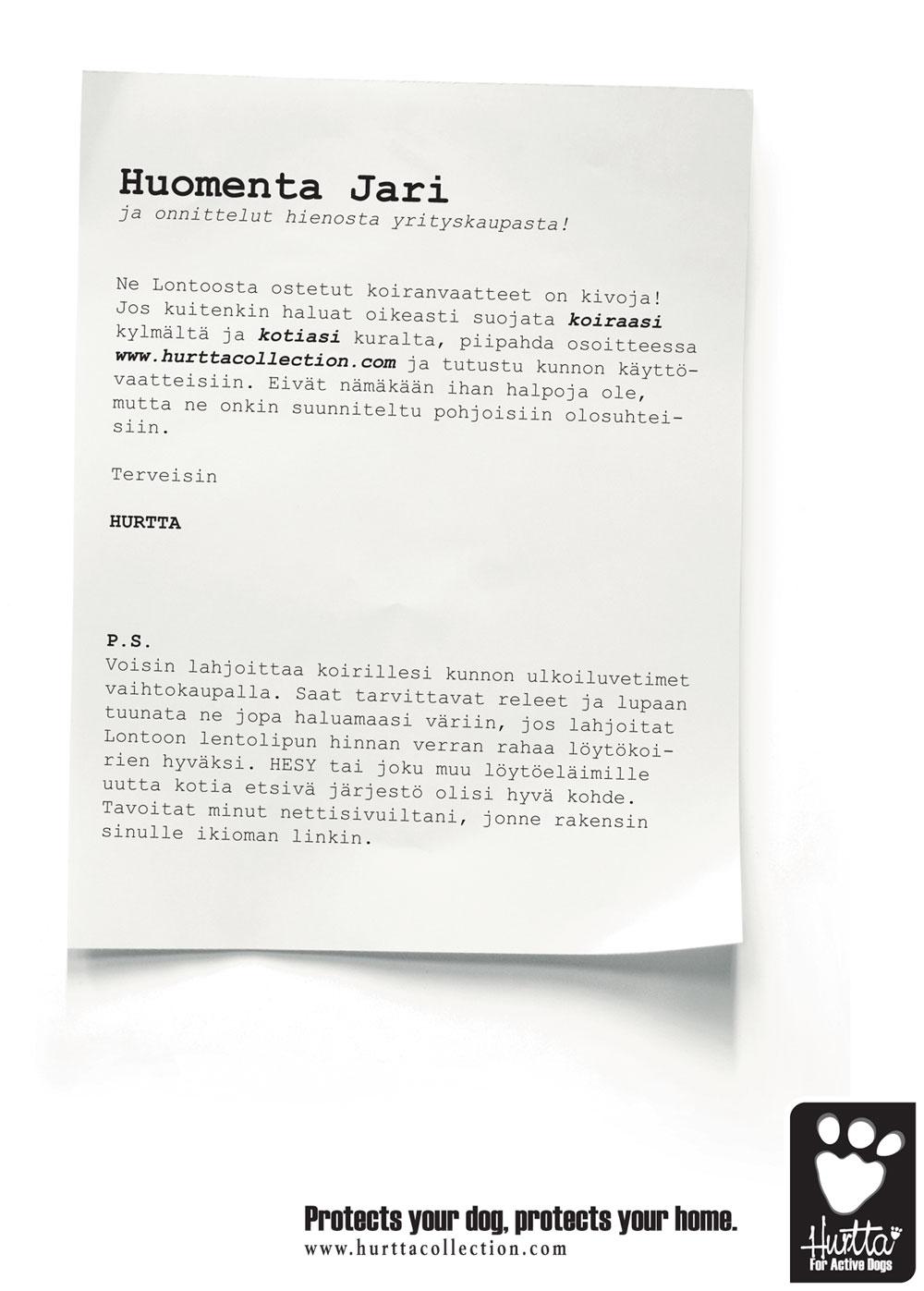 Hurtta Collection hyödyntää Sarasvuota